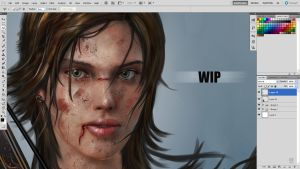 LARA CROFT (SNEAK PEAK) by huzzain