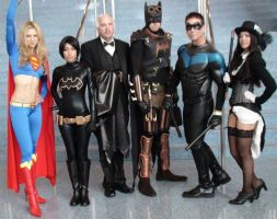 Supergirl, Batgirl, Batman, Nightwing, Zatanna by trivto