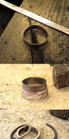 Flanked and lined mokume ring step by step by fairyfrog