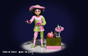 Trick or Treat:  Make 'Em Laugh by Dani3D