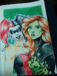 Queen (Quinn) and Poison by 3wolFlamE
