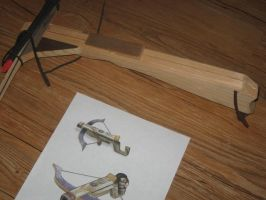 Link's Crossbow WIP by WillowForrestall