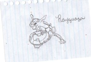 Rayquaza Drawing by emberstar13
