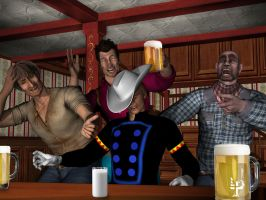 Rawhide Kid at the Bar by leroysquab