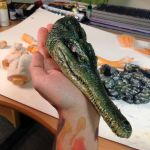Crocodile in Progress by AtomiccircuS