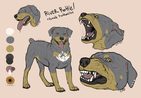 RiverRottie Feral Ref Sheet - Sona by Esaki