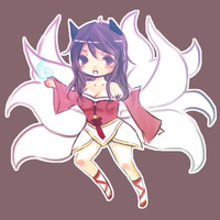 ahri - LoL by chelfie