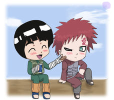 Naruto: LeeGaa LOL by The-PirateQueen
