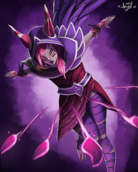 Xayah Featherstorm by Angelwings246
