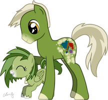 . : MLP FIM - Tempraa and [Name Undecided] OCs : . by MoogleKingdom13