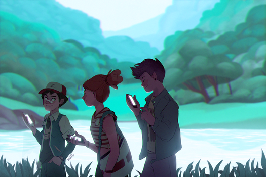 Pokemon Going Outside by trisketched