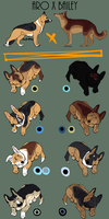 Panda German Shepherd Dog Adoptables by Esaki