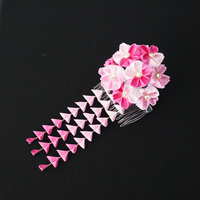 Pink Cherry Blossom Kanzashi with Shidare 207 by japanesesilkflowers