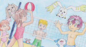 Digimon 2.5 Summer Contest (Drawing): 2ND PLACE by CherrygirlUK19