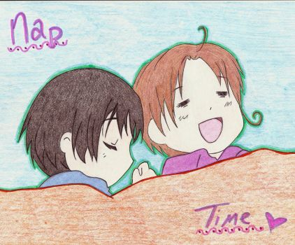 Axis Powers Hetalia : Nap Time by NekoChibitalia