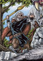 Odin Sketch Card - Classic Mythology II by tonyperna