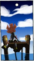 -Sketch- Sitting on a pier by TheonknownKLAW