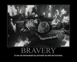 Bravery Motivational Poster by QuantumInnovator