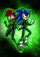 Green Lanterns Sally and Sonic by Berty-J-A