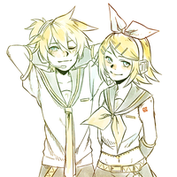 Prize for DogsandRoses (Rin and Len) by BayneezOne