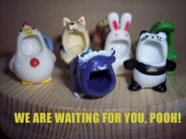 We are waiting for you, pooh. by antonellapistarino
