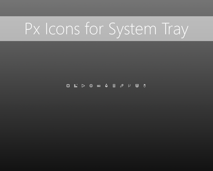 Px icons for System Tray by Pedro9666