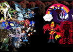 Sonic and co vs Midnight sparkle and other baddies by pokekid333