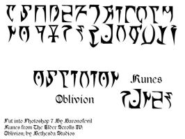 Elder Scrolls: Runes brush set by BaronOfEvil