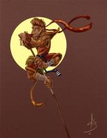 Sun Wukong The Monkey King by fdiskart