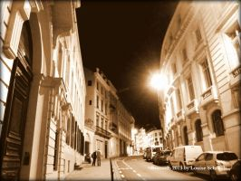 Brussels at night by LouiseSchmidt