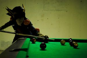Yusei Fudo: Pool Hall by Malindachan