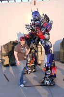 Optimus and Elita ( me) by Lady-Elita-1