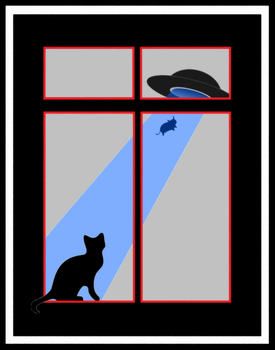 my cat saw an abduction by the window by boroncete