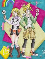 Happy 8th Birthday Kagamine Rin and Len! by bunnychan