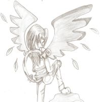 Heaven lost an angel+sketch+ by Shadowsluver