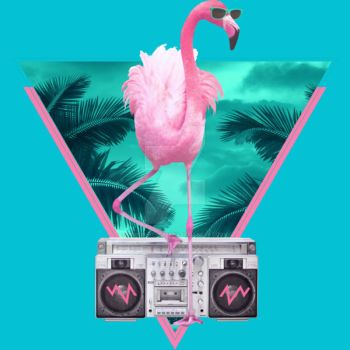 Miami Flamingo by Design-By-Humans