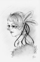 Lady Peacock in Pencil by silver-eyes-blue