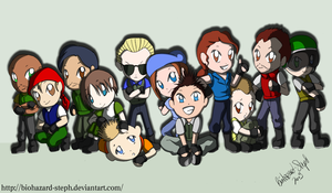 Chibi S.T.A.R.S. Teams by Biohazard-Steph