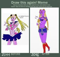 Draw this again meme A strange Sailor Moon by IllyDragonfly