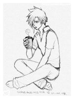 x Cloud and His Tea x by chibiasta