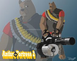 TF2: Heavy Weapons Bear by cityinthehead