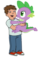 TJ and Spike by Fluttershy626