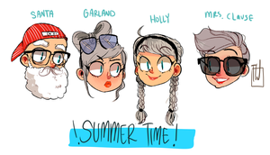 Summer Time With The Clauses by temporaryWizard