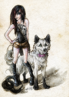 Wolf 'n' Human by WhiteSpiritWolf