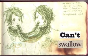 can't swallow. by boobookittyfuck