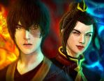 Zuko and Azula - Firelords by natsun7gem
