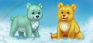 Wish Bear and Funshine Bear by CelticBotan