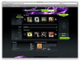 Sourcebits Nerve Music Store by sourcebits