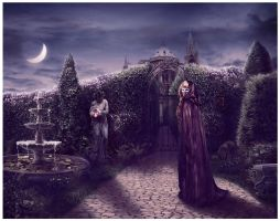 A Moonlit Garden by GingerKellyStudio