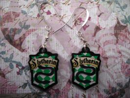 Slytherin Earrings by AriesNamarie